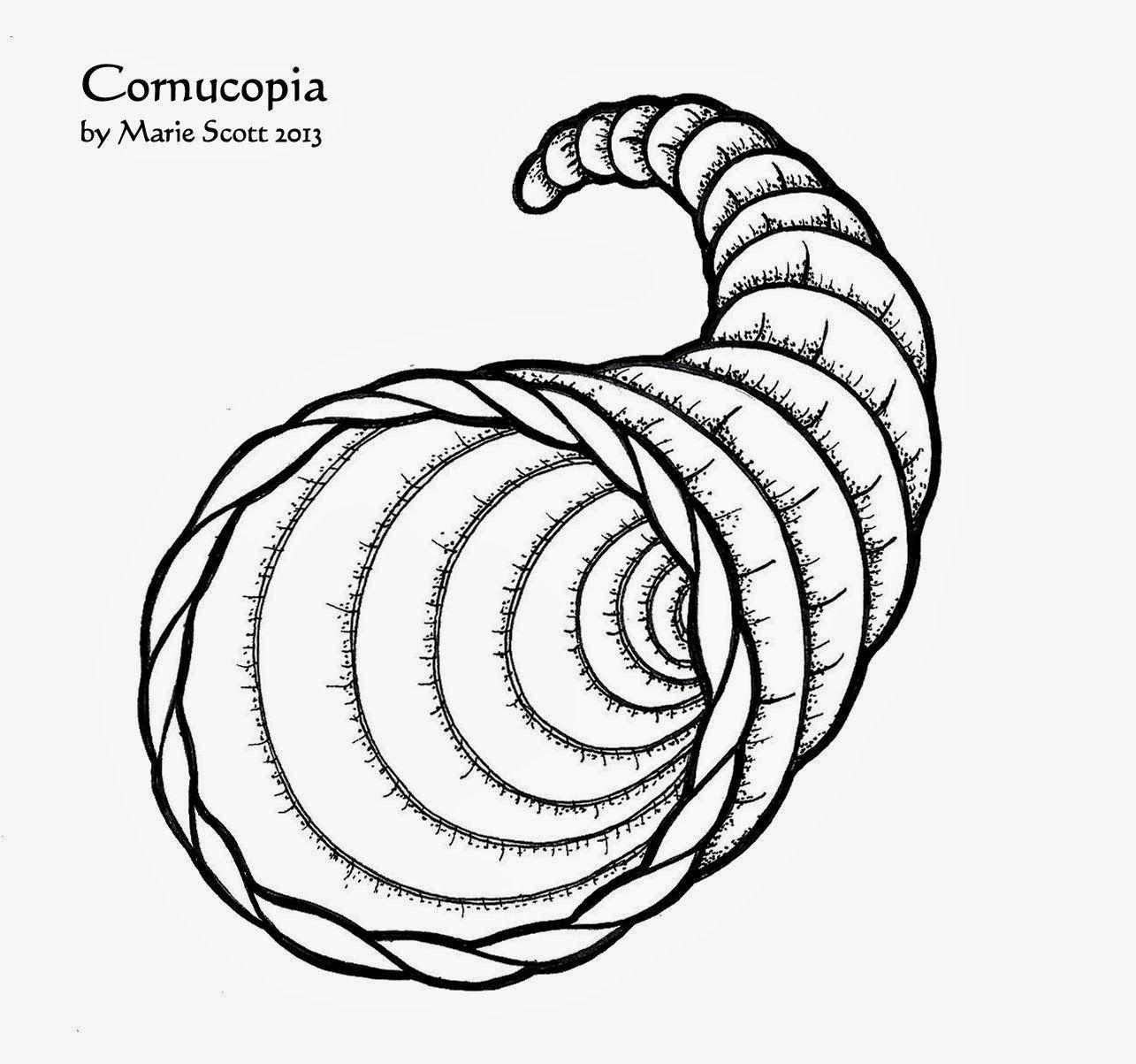 Cornucopia Coloring Sheet