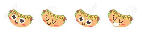 Cartoon drawing set of fast food emoji Hand drawn emotional mealActual Vector illustration american cuisine Creative ink art work hot dog