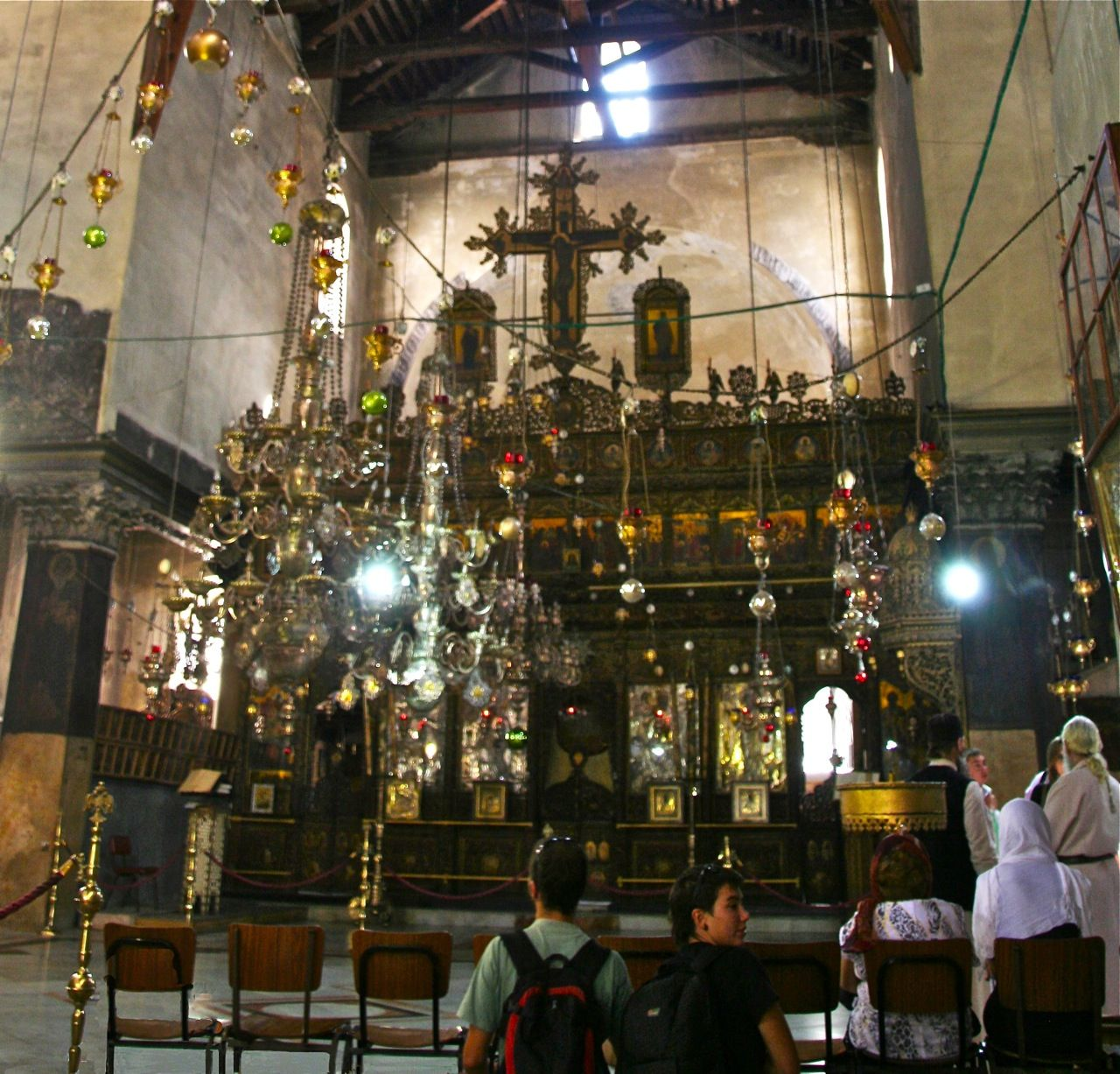 The Alter In The Church Of The Nativity Bethlehem Palestinian Territories Sits Atop The Grotto Of The Nativity B Nativity Church Birthplace Of Jesus Shrine
