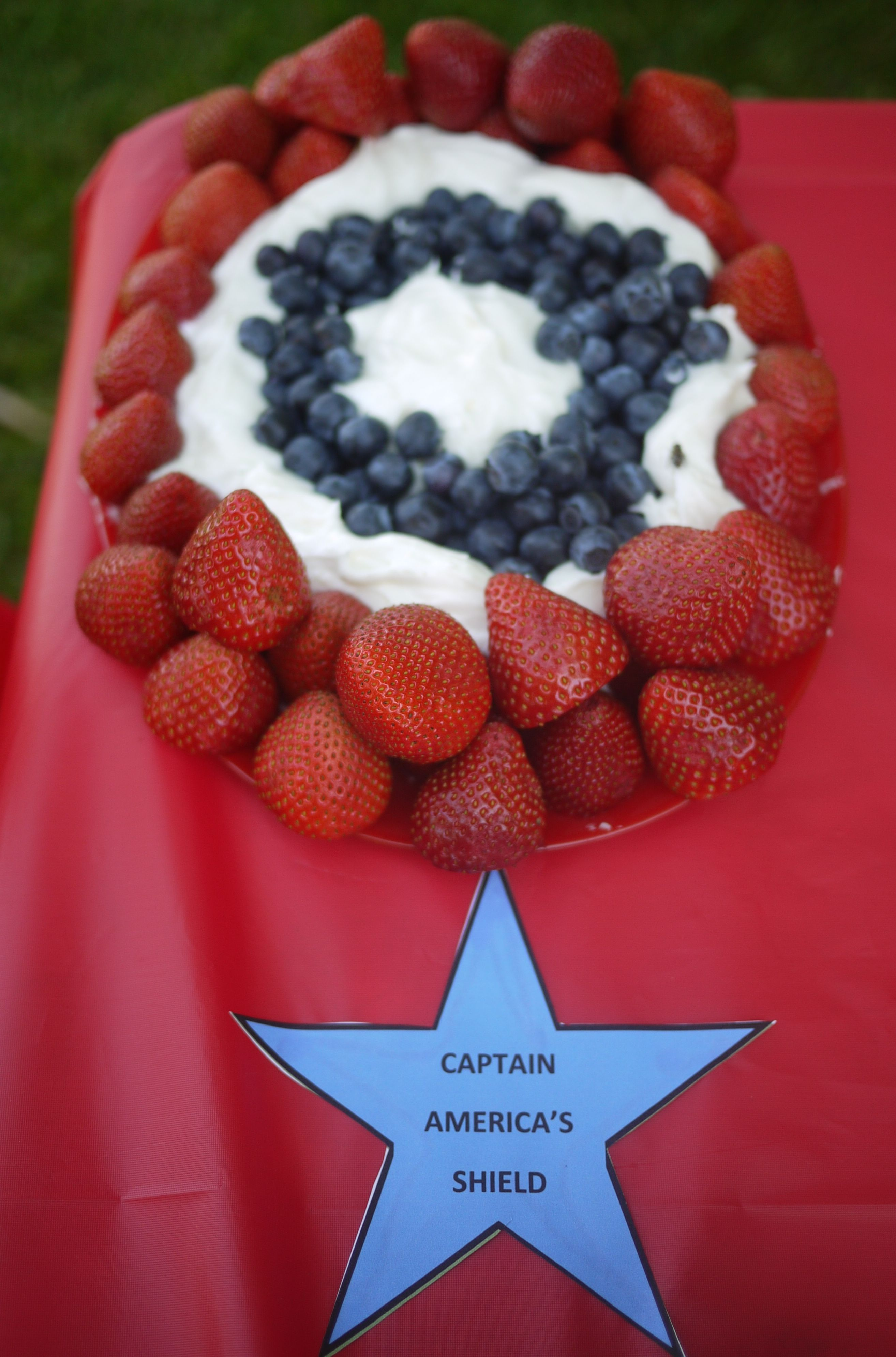 Food Ideas StrawberriesBlueberriesCream Cheese Dip for Captain