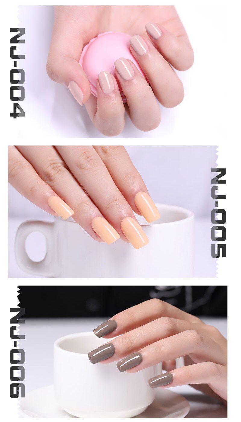 Nee Jolie 7 5ml Nail Polish Pink Gray Coffee Series Fast Dry Nail Lacquer 36 Ordinary Colors For Summer Nail Art Decoration Transparent Nails Nail Polish Dry Nails