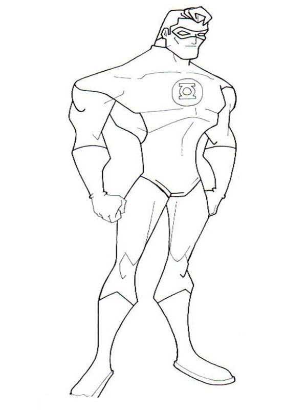 Green Lantern Coloring Pages To Print printable coloring pages