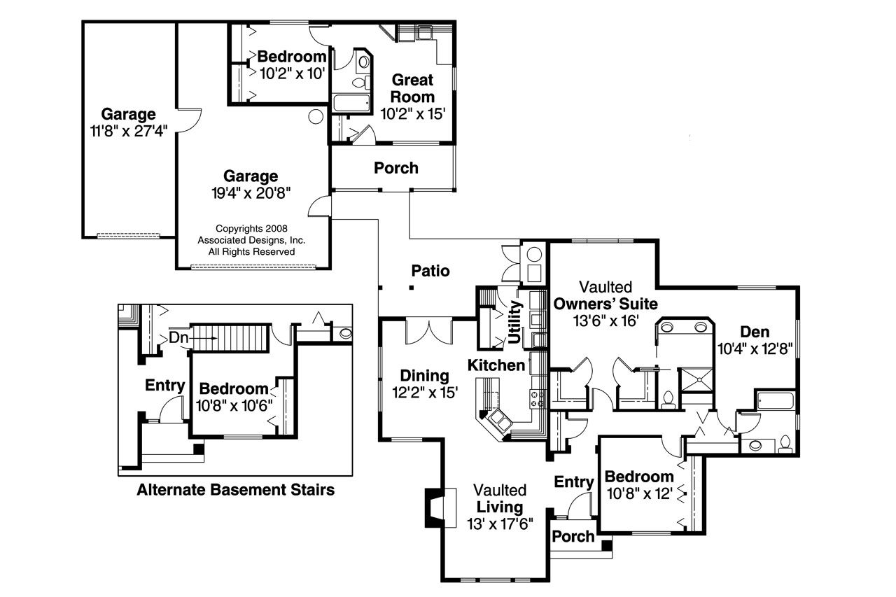 Floor Plans With Separate Inlaw Apartments Garage House Plans Floor Plans Ranch House Plans