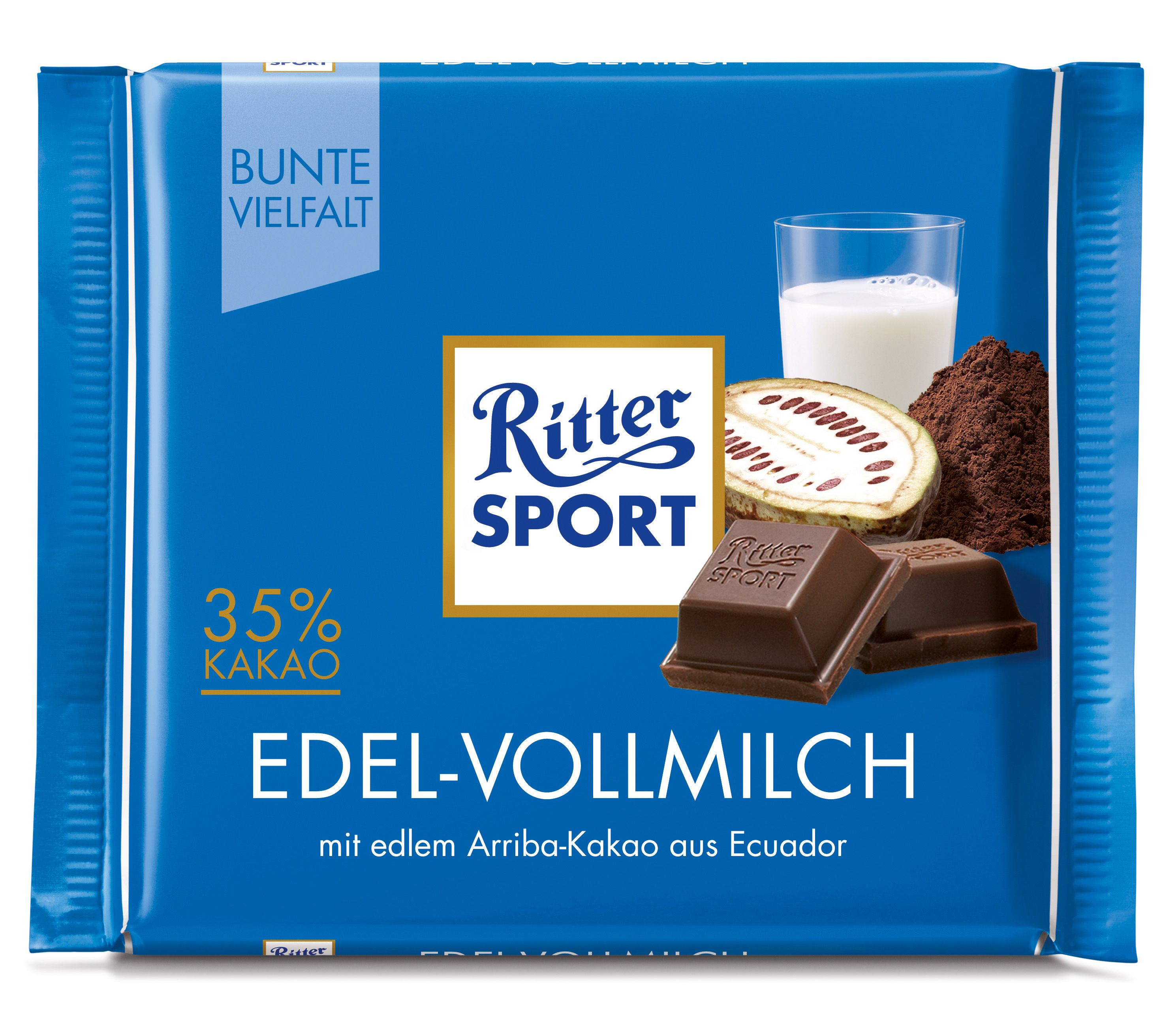 RITTER SPORT EdelVollmilch Ritter sport, Sport und Edel