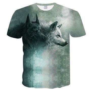7e1f6b41e New Fashion Brand T-shirt Men/Women Wolf | www.badassteesusa.com ...
