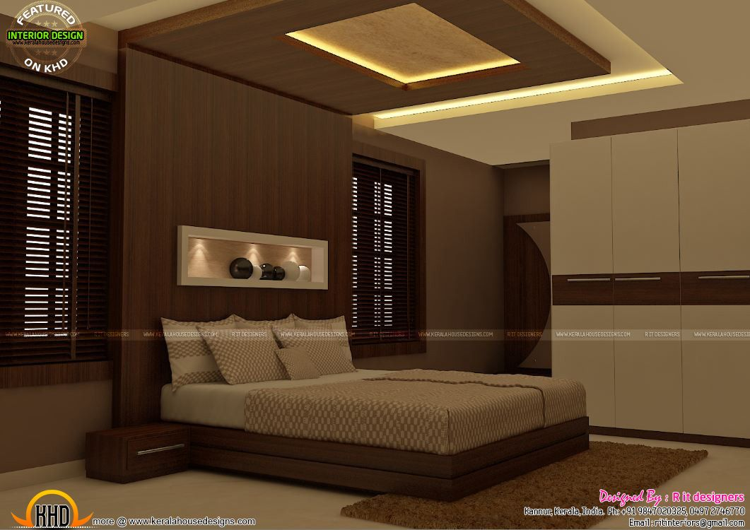 Bedroom Interiors awesome master bedroom interior kerala home design and floor plans