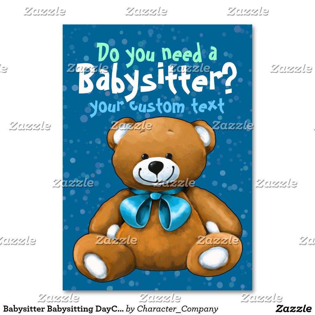 Azul del cuidado de niños de la guardería de la tarjetas de visita ...