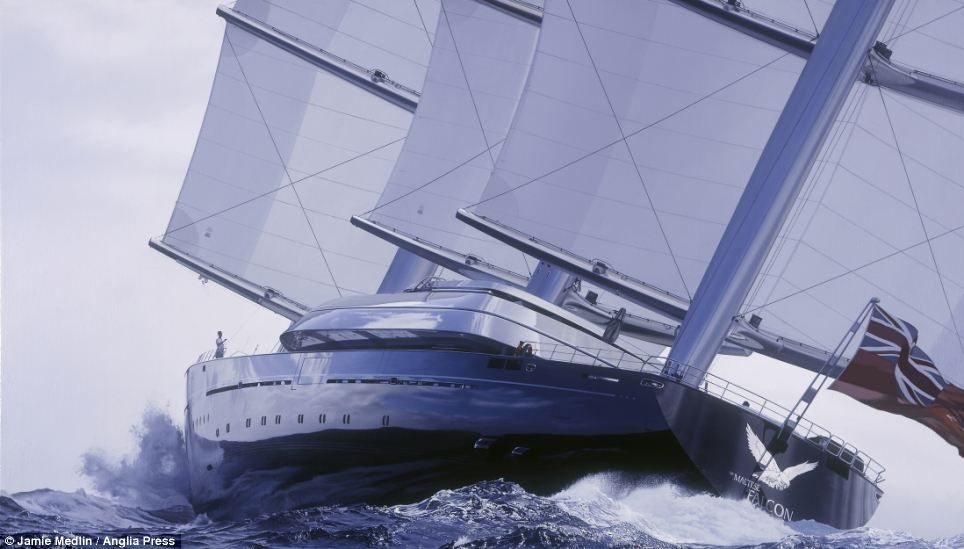 Extraordinary Life Like Paintings Of Yachts Sell For 100 000 A Piece Luxury Sailing Yachts Sailing Yacht Boat