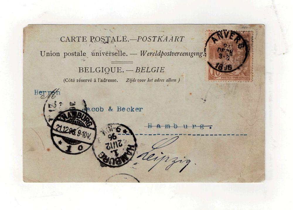 Belgische Postkarte Vom 20 Dezember 1896 Postkarten Karten Poster