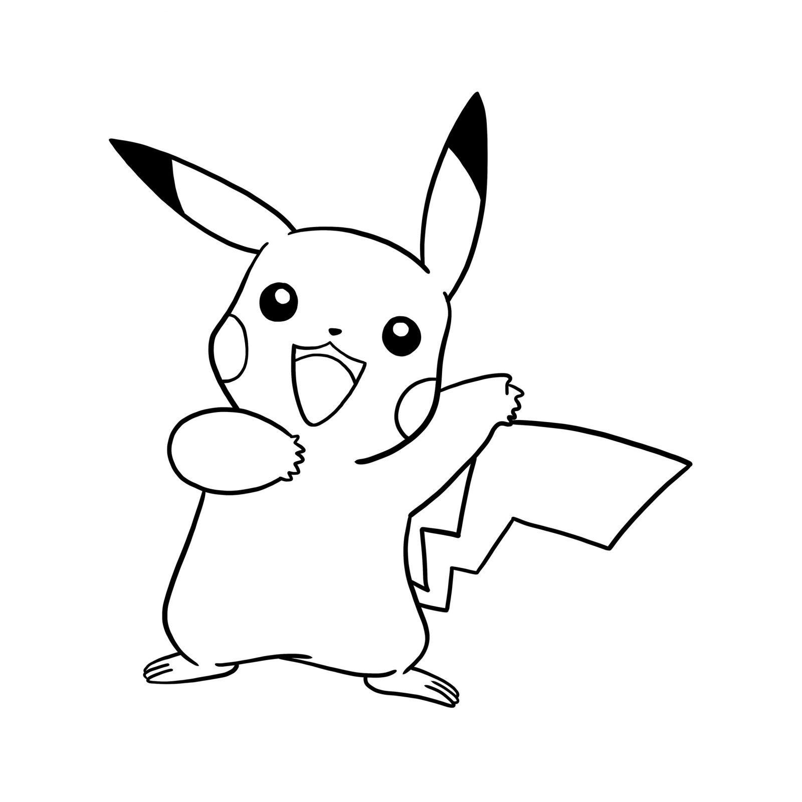 Dibujos Pikachu para dibujar, imprimir, colorear y recortar ...
