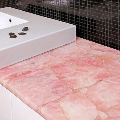 Rose Quartz Countertop May Be Backlit Very Durable Semi