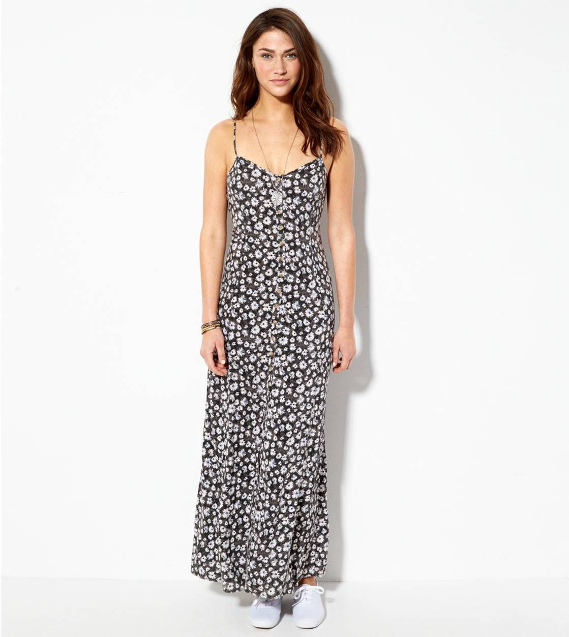 Floral Ae Printed Maxi Sundress Eastwoodpinpals Dresses