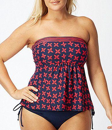 875232a4a9e Cute! Plus Size A-Line Bandini Tankini Swimsuit
