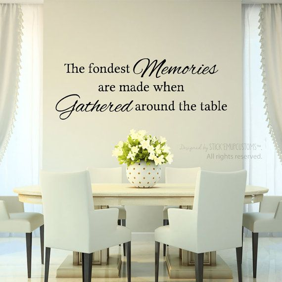 Awesome The Fondest Memories Are Made When Gathered Around The Table   Wall Decal   Dining  Room