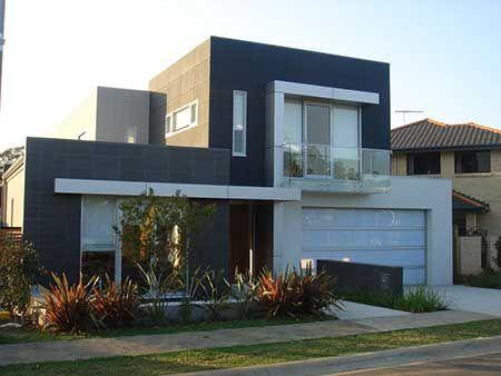 Fachadas de casas pinterest fachadas de for Modelos de casas minimalistas de dos plantas