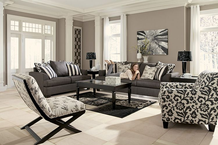 Charcoal Sofa And Fabulous Side Chair From The Lansing Collection