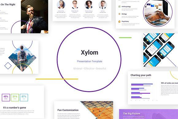 Xylom Powerpoint Template More Than 100 Unique Slides Minimalistic