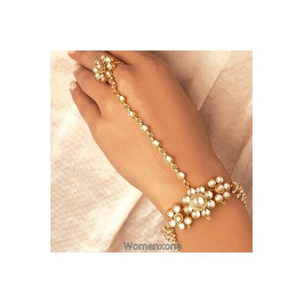 Goldplated Ankle Slave Bracelet Anklet Women Harness Indian Traditional Jewelry