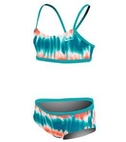 Nike Girls' Motion Blur V-Back Sport Bra and Brief Set (7-14) at SwimOutlet.com