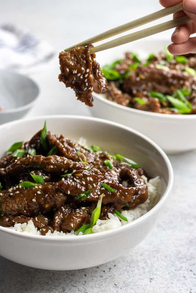 Easy Mongolian Beef Recipe Sliced Beef Recipes Mongolian Beef