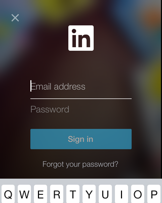 Sign In Screen from LinkedIn App | PatternTap | ZURB Library | app ...