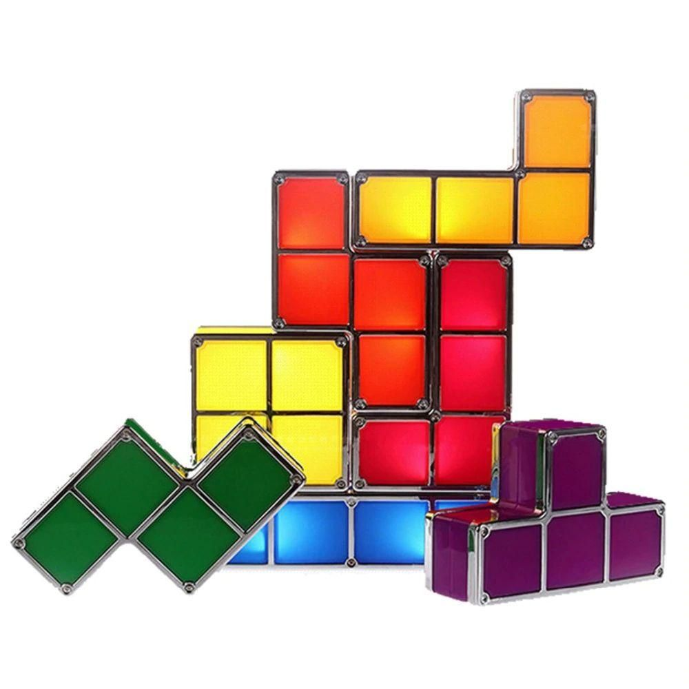 Stackable Tetris Puzzle Lamp In 2020 Cube Lamps Led Lights Night Light