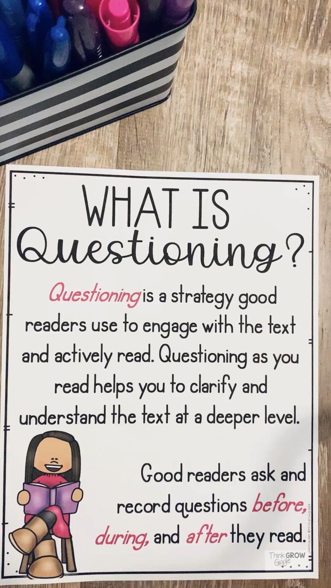 Are You Looking For Activities To Help Your Grade 3 4 And 5 Students Understand The Rea En 2020 Strategies De Lecture Question Strategies De Comprehension De Lecture [ 1920 x 1080 Pixel ]