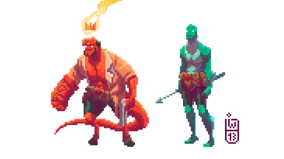 Hellboy the pixel guy by IgorWolski