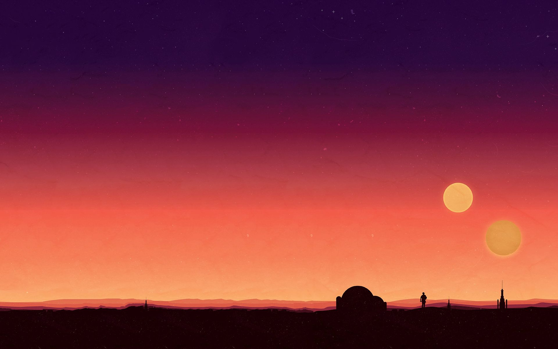 Request Does Anyone Have A Hd Desktop Wallpaper Of The Binary Star Wars Painting Star Wars Background Star Wars Wallpaper