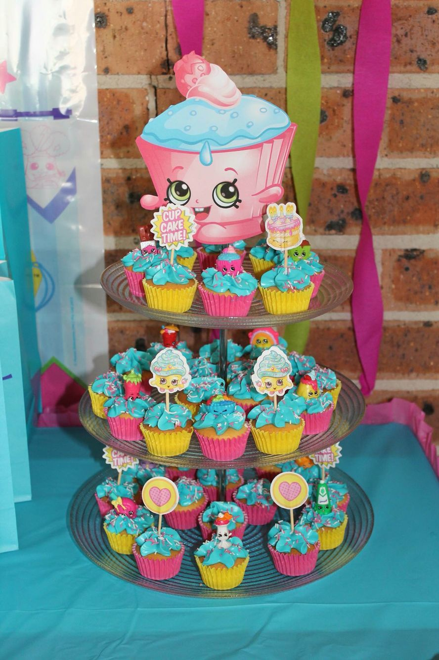 Shopkins Cupcake Tower Shopkins Birthday Party Shopkins Birthday Shopkins Bday