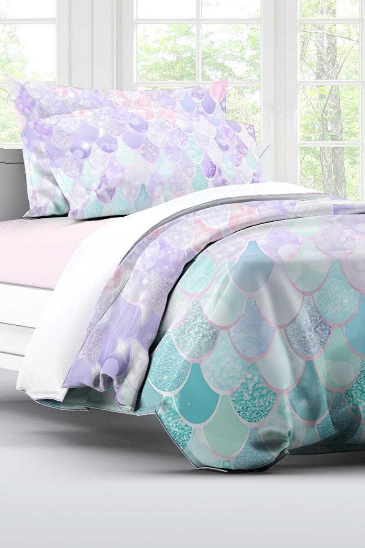 Little Girls Bedding Girls Mermaid Bedroom Cute Comforters For Little Girl Bed Ideas Mermaidbedroom Mermaid Decor Bedroom Pastel Bedroom Girl Bedroom Decor