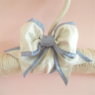 Padded  Hanger  Silk Ribbon Custom Colors by tokyoblues on Etsy