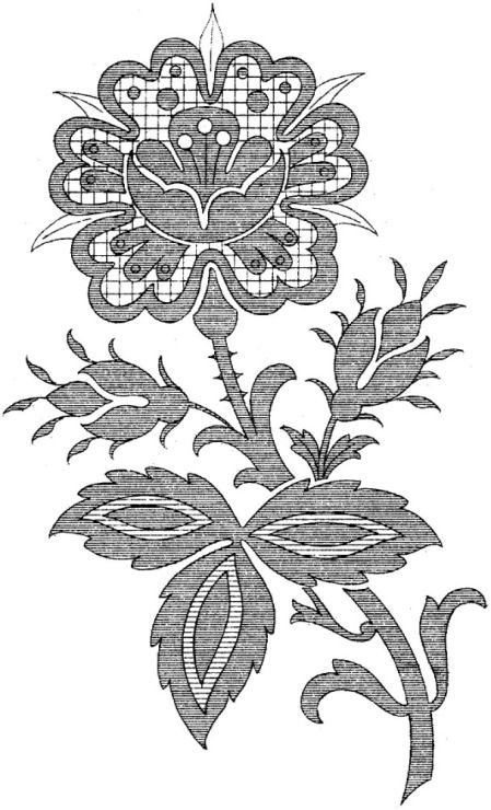 Gallery.ru / Фото #8 - Embroidery II - GWD | FLORES PARA DIBUJAR ...