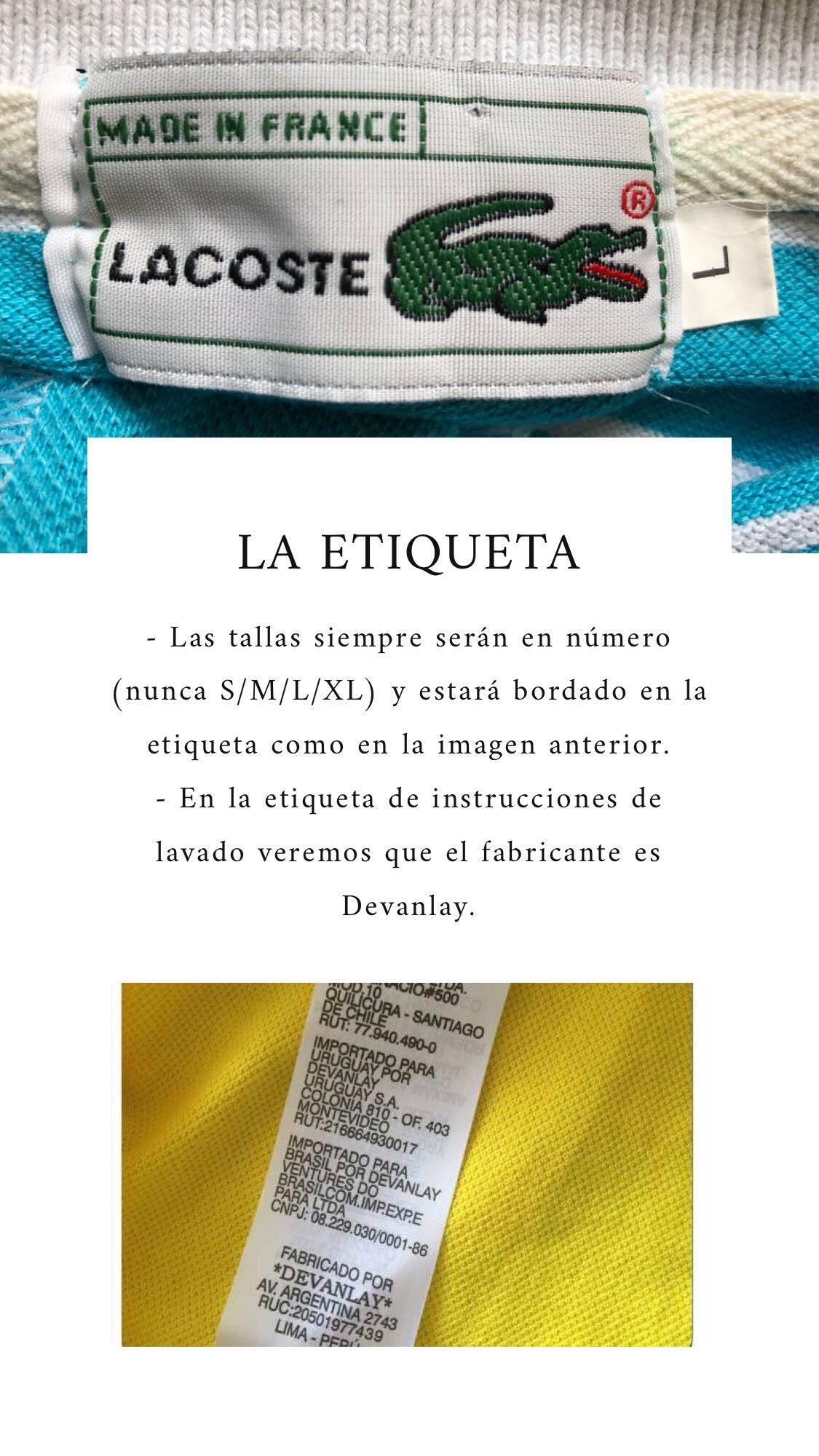 f9cceac45d876d Lacoste - Cómo reconocer una prenda fake y una original.   LACOSTE ...