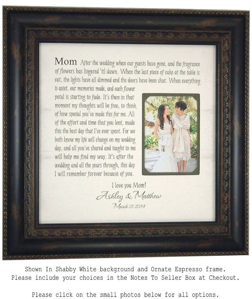 Wedding Picture Frame Mother Of The Bride Gift Parents Thank You