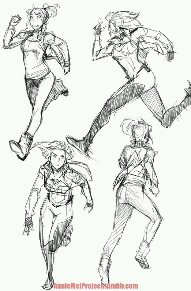 ctchrysler anniemeiproject had to do some personal drawings for myself so here are some various running poses of annie