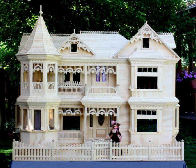 Victorian barbie doll house free plans dollhouse maison miniature vitrine miniature - Plan de maison de barbie ...