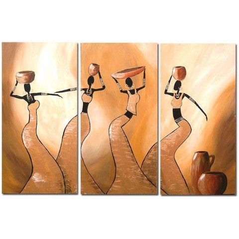 Wall Art Ideas   Abstract Hand Painted Oil Painting With Stretched Frame    Set Of