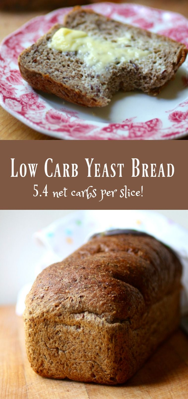Best low carb yeast bread recipe is light, fluffy, and Atkins friendly! 5.4 net carbs. from ...