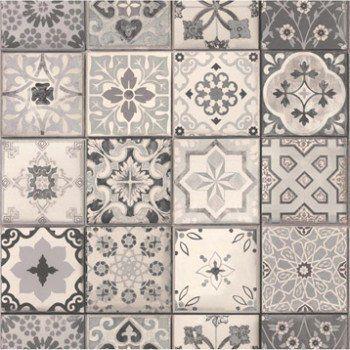 papier peint intiss carreau ciment gris leroy merlin home id es pinterest papier peint. Black Bedroom Furniture Sets. Home Design Ideas
