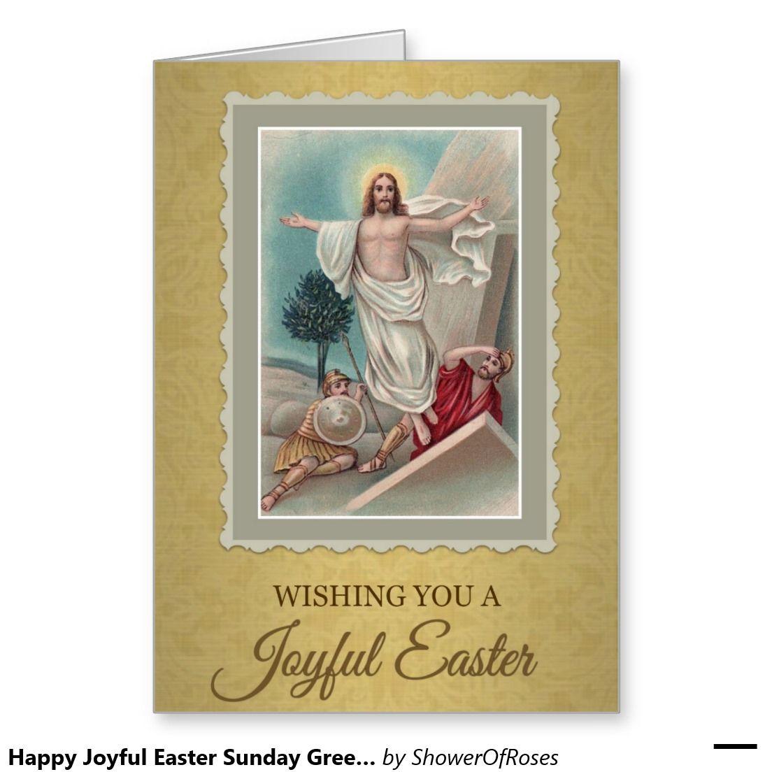 208 Happy Joyful Easter Sunday Greeting Card Sunday Greetings