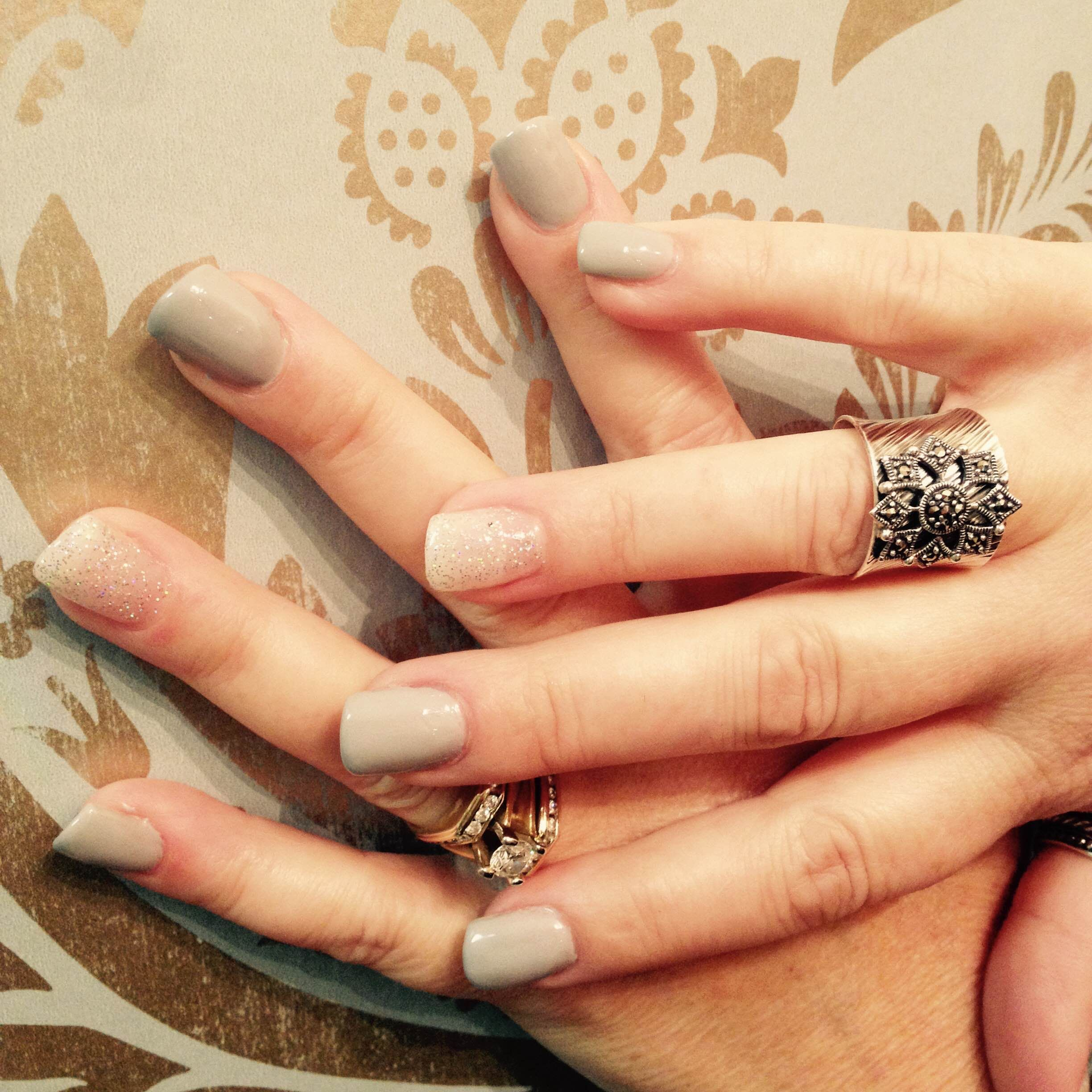 Nails done here at our spa in St. Albert, Alberta Glow