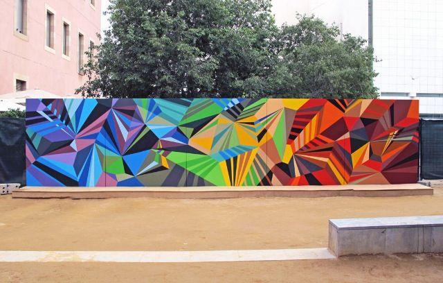 Matt W Moore Peinture Mur Extérieur Paysage Géométrique