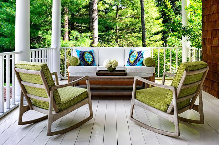 Donna Piskun Design   Porches   Rocking Chairs, Patio Rockers, Fantastic  Porch Design With Mod Century Modern Rocking Chairs Upholstered In.