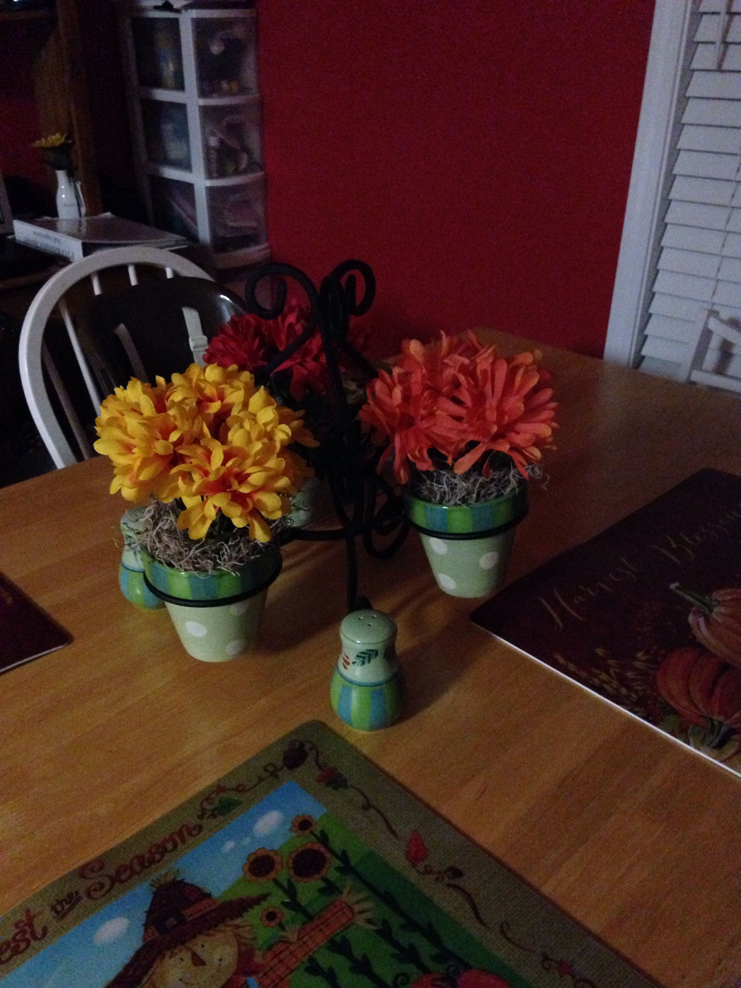 My fall flower arrangement I made!! #takingaftermymomma!