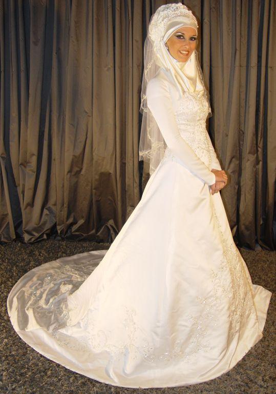 c73f98f204f Robe de mariee avec hijab blanc ...