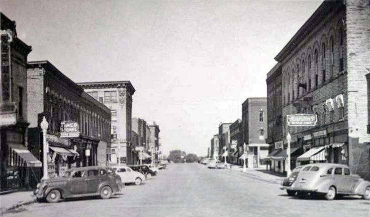 Bush Street Red Wing Minnesota 1940s Red Wing