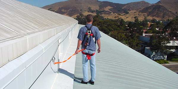 Our Horizontal Lifelines Anchors Warning Line And Guardrails Can Be Used To Provide Fallprotection For A Variety Of Roof Appl Image House Protection Roof