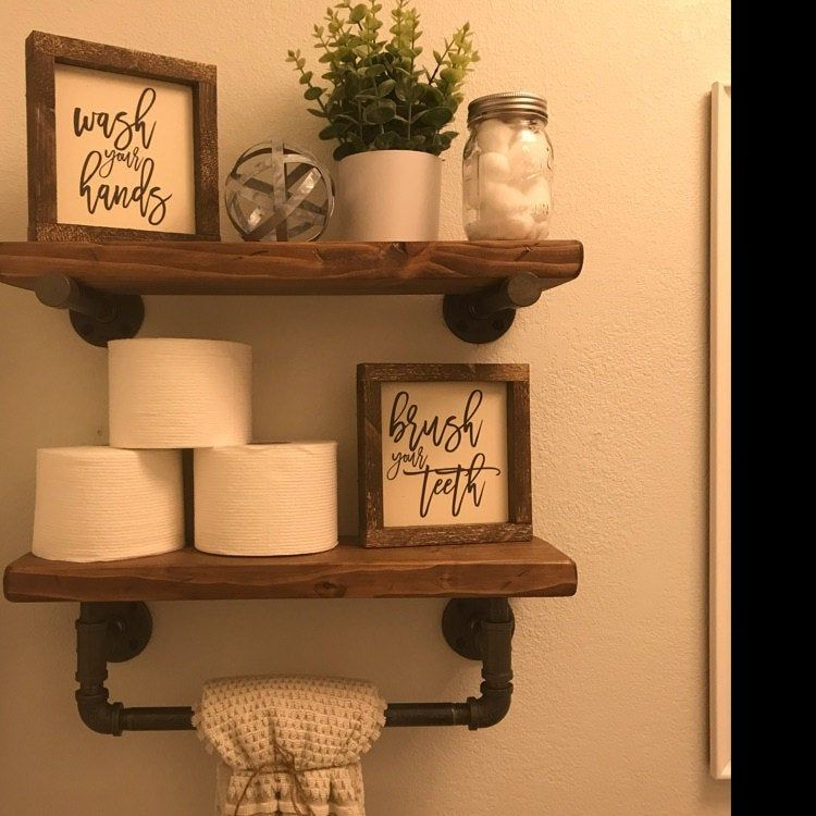 fe617fba1ccae681af28e8cc2a8a3211 - Download Small Bathroom Farmhouse Bathroom Shelf Decor Pictures