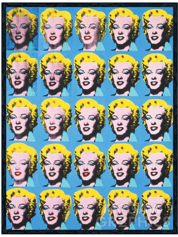 McGaw Graphics Twenty-Five Colored Marilyns, 1962 by Andy Warhol (Framed) |  Andy warhol, Warhol, Andy warhol marilyn